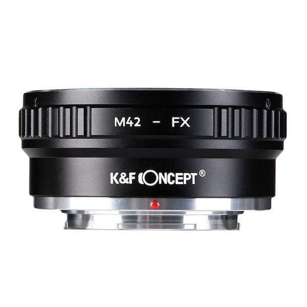 K&F Concept レンズマウントアダプター KF-42X2 (M42マウントレンズ → 富士フィルムXマウント変換)