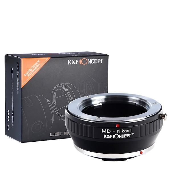 K&F Concept レンズマウントアダプター KF-SRN1 (ミノルタMD・MC│SRマウントレンズ → ニコン1マウント変換)