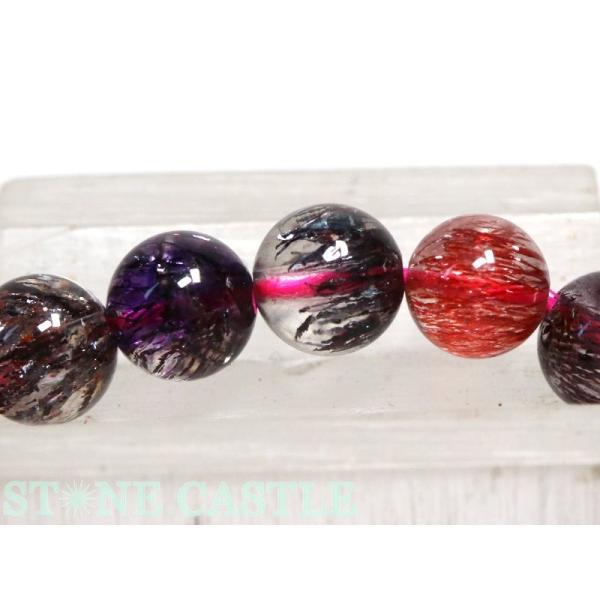 高級一点物 天然石 ブレスレット スーパーセブン (最高級) (約7〜7.5mm) No.34 (ケース付) パワーストーン
