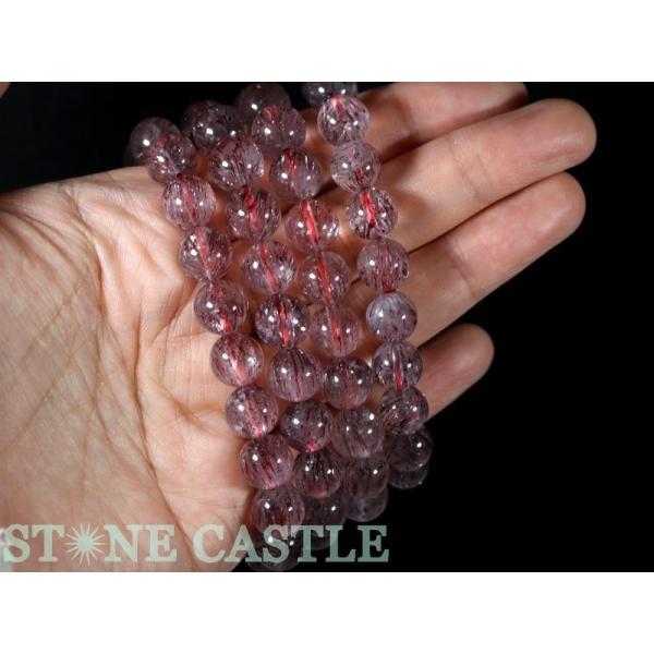 高品質 天然石 ブレスレット アイリススーパーセブン (3A) (モザンビーク産) (約9〜9.5mm) (ケース付) パワーストーン
