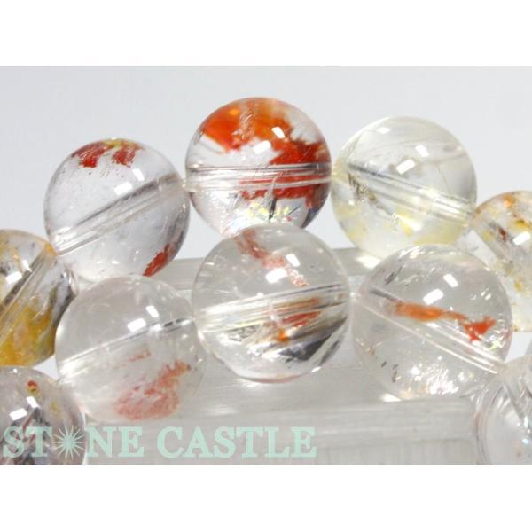 高品質 天然石 ブレスレット 天然オーラクォーツ (3A) (ブラジル産) (約12〜12.5mm) (ケース付) パワーストーン