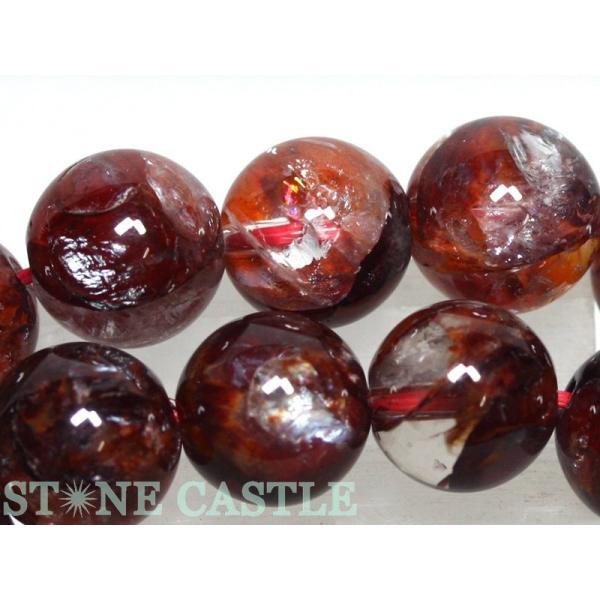 高品質 天然石 ブレスレット ブラッドオーラクォーツ (5A) (レインボー付) ディープカラー (約10〜10.5mm) (ケース付) パワーストーン