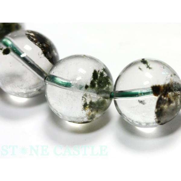 高品質 ブレスレット 星入水晶 (スパイダークォーツ) マダガスカル産 (約13〜13.5mm) (ケース付)