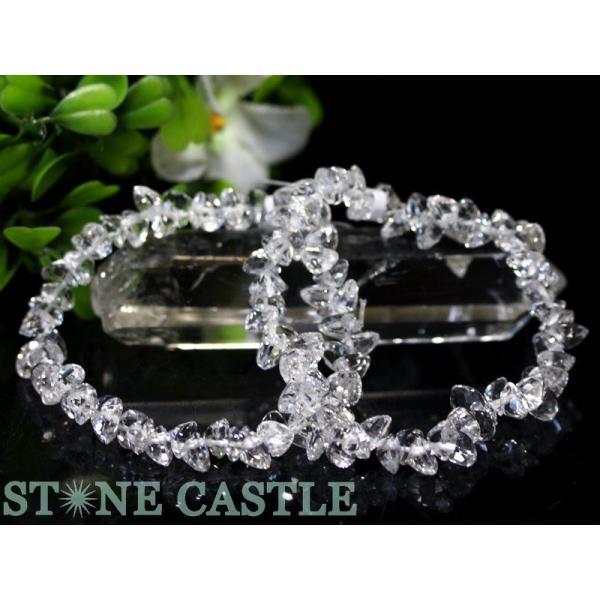 e52161be9b 高品質 ブレスレット 天然水晶 ハート型(ブリリアントカット) (約6mm) 天然石 ...