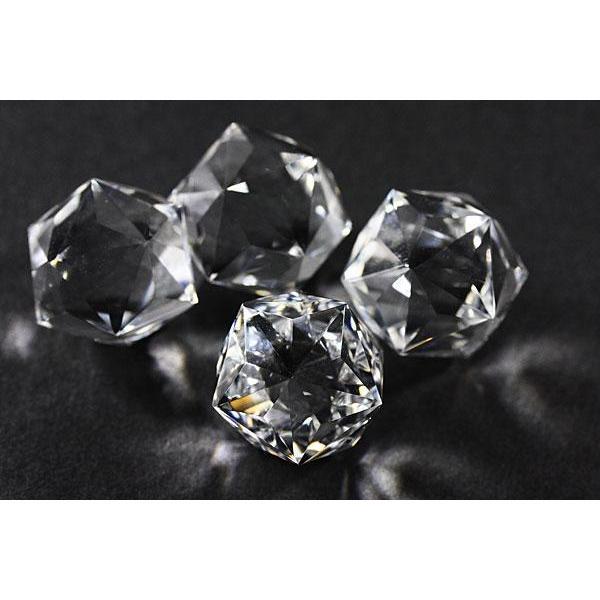 置物 インテリア 置き石 五芒星二十面体 水晶 20mm 天然石 パワーストーン