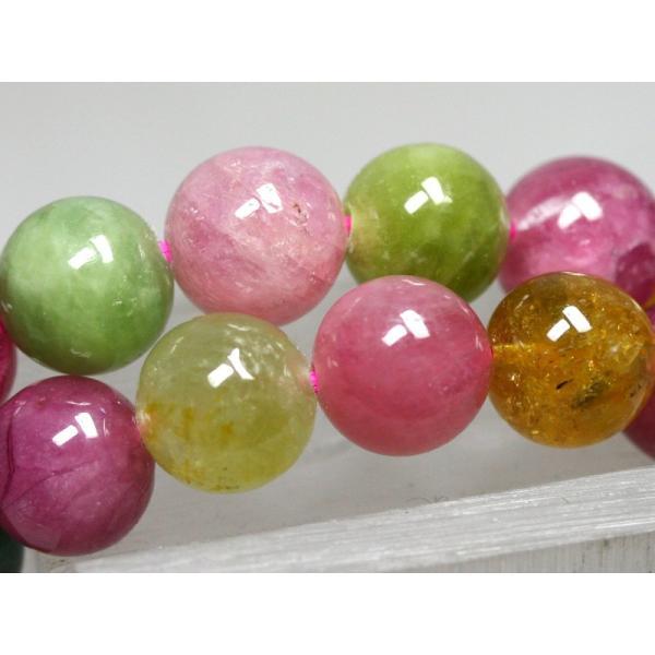 ☆高品質☆【ブレスレット】キャンディトルマリン (3A) (約8〜8.5mm) (ケース付) 天然石 パワーストーン