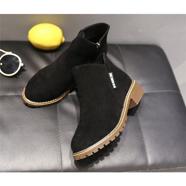 2019 秋 SALE ブーティー レディース ローヒール 歩きやすい サイドジップ スエード調 フェイクレザー 大きいサイズ 小さいサイズ 秋冬 ショートブーツ 靴|store-candyz|11