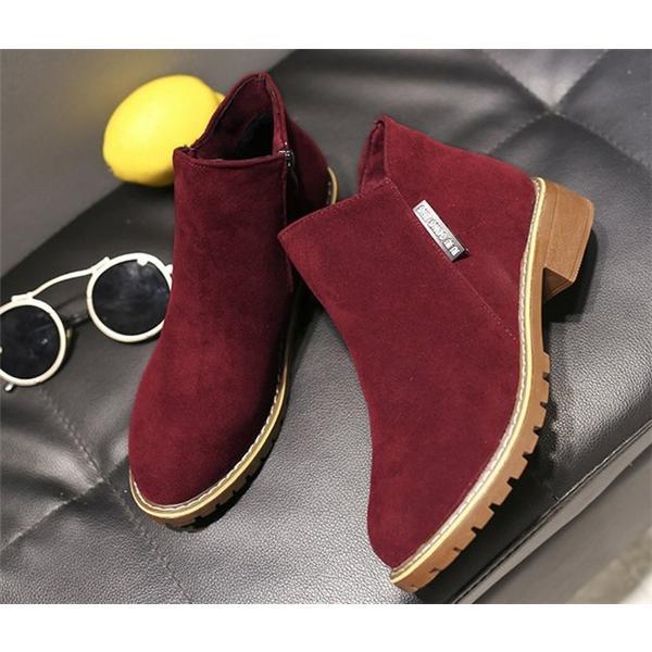 2019 秋 SALE ブーティー レディース ローヒール 歩きやすい サイドジップ スエード調 フェイクレザー 大きいサイズ 小さいサイズ 秋冬 ショートブーツ 靴|store-candyz|13