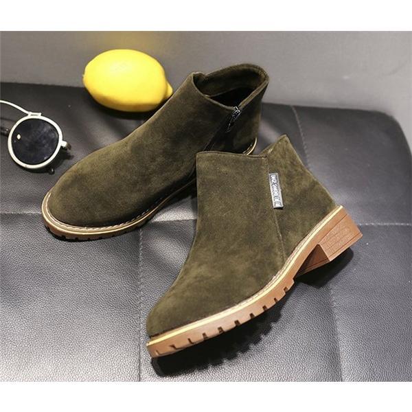 2019 秋 SALE ブーティー レディース ローヒール 歩きやすい サイドジップ スエード調 フェイクレザー 大きいサイズ 小さいサイズ 秋冬 ショートブーツ 靴|store-candyz|14