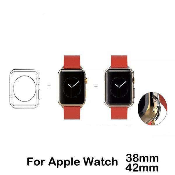 Apple Watch 3/2/1対応ケース カバー 透明 クリア 柔らかい 高品質 42mm 38mm 全方位保護 耐衝撃メール便のみ送料無料1♪5月10日から20日入荷予定