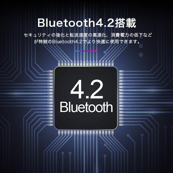 ワイヤレスイヤホン イヤフォン Bluetooth 4.2 ブルートゥース 充電ケース付き iPhone アンドロイド メール便のみ送料無料3♪3月10日から20日発送予定|store-delight|05