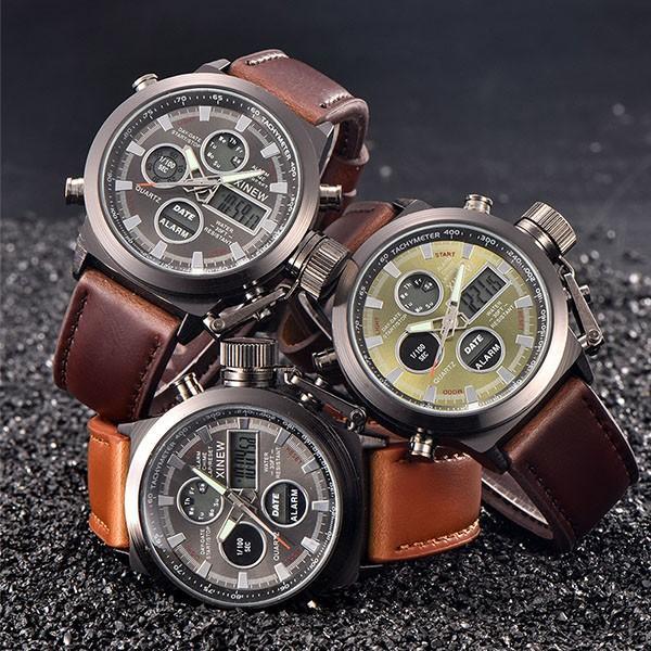 腕時計 メンズ クロノグラフ ウォッチ おしゃれ シンプル デジタル アナログ メール便のみ送料無料2♪5月20日から31日入荷予定|store-delight|02