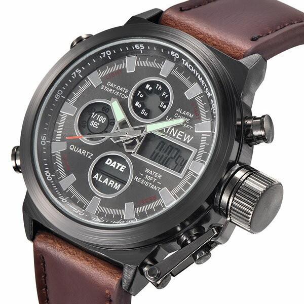 腕時計 メンズ クロノグラフ ウォッチ おしゃれ シンプル デジタル アナログ メール便のみ送料無料2♪5月20日から31日入荷予定|store-delight|03