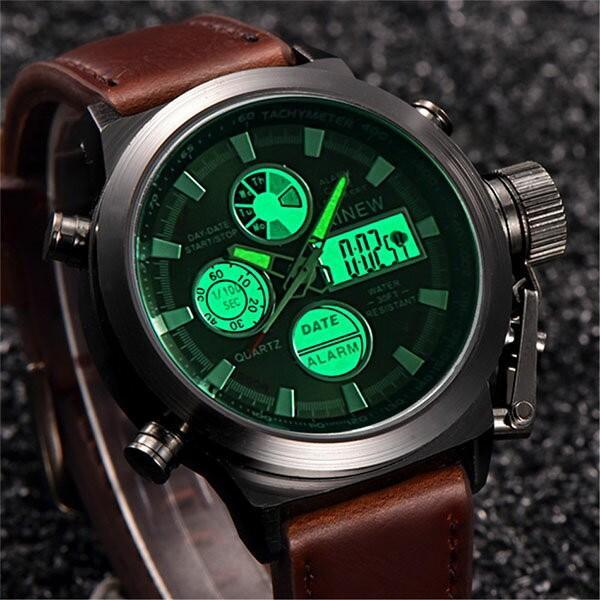 腕時計 メンズ クロノグラフ ウォッチ おしゃれ シンプル デジタル アナログ メール便のみ送料無料2♪5月20日から31日入荷予定|store-delight|04