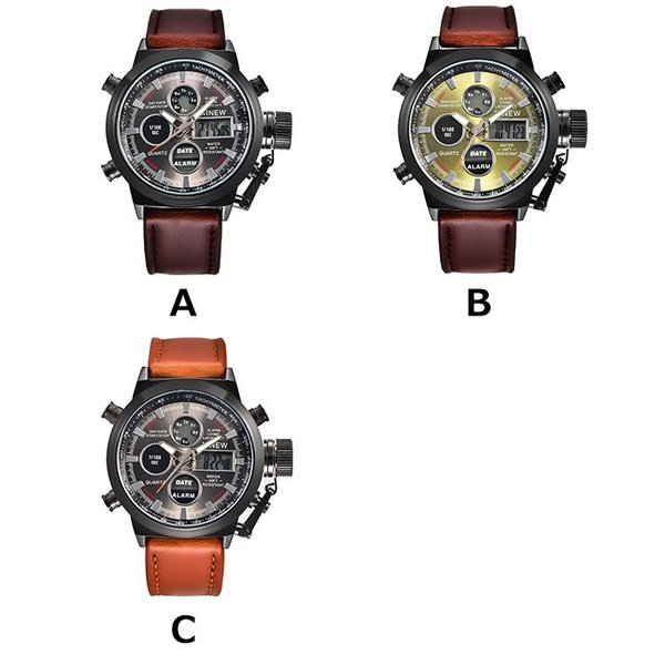 腕時計 メンズ クロノグラフ ウォッチ おしゃれ シンプル デジタル アナログ メール便のみ送料無料2♪5月20日から31日入荷予定|store-delight|05