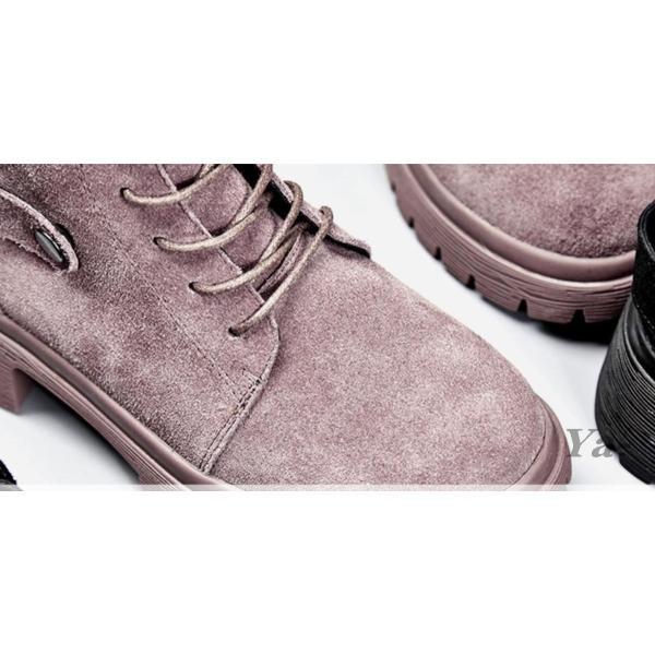 送料無料 ショートブーツ 秋 冬 ローヒール 靴 ベルト レースアップ 通勤 カジュアル