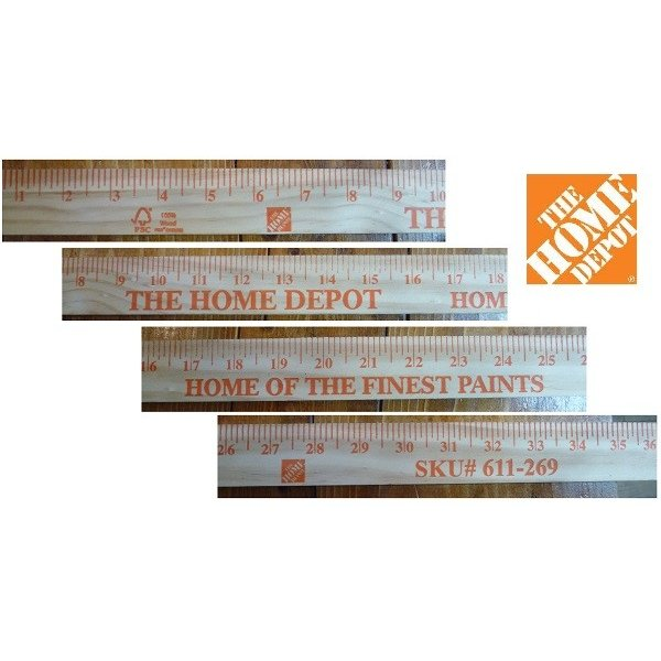 The Home Depot 36 In Old Time Wooden Yardstickヤードスティック ルーラーruler定規ものさし ザ ホームデポ