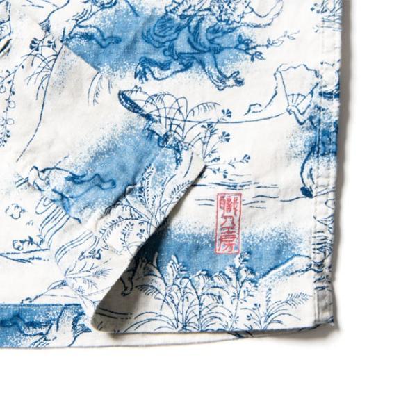 STUDIO D'ARTISAN ステュディオダルチザン 40thインディゴアロハシャツ SP-036 和柄 ハワイアンシャツ レプリカ アメカジ デニム 送料無料|store-house-596|08