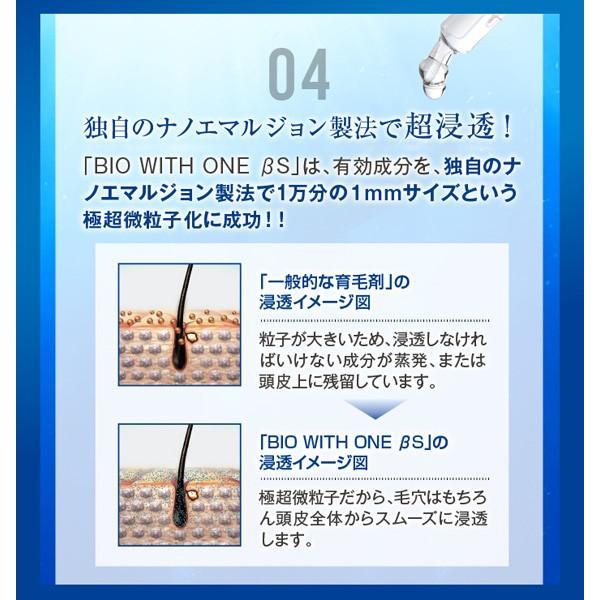 3本セット 男性用 育毛剤 バイオテック バイオウィズワン ベータS 300mlボトル(約1ヵ月分) 抜け毛 育毛トニック スカルプ 頭皮 乾燥|storebiotech|08
