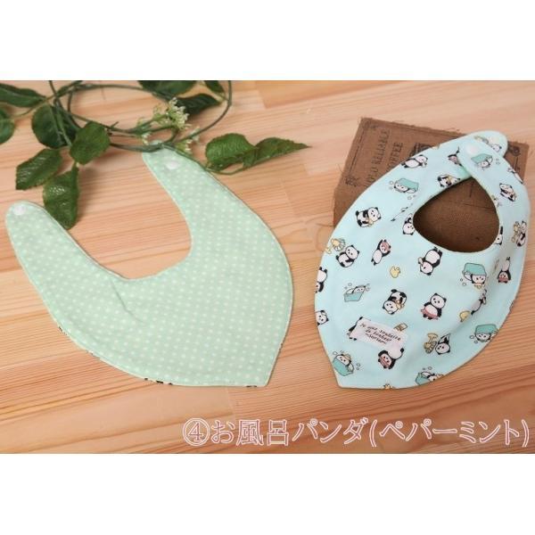 バンダナスタイ よだれかけ 出産祝 日本製 ガーゼ パンダ 新生児 おしゃれ|stories-shop|09