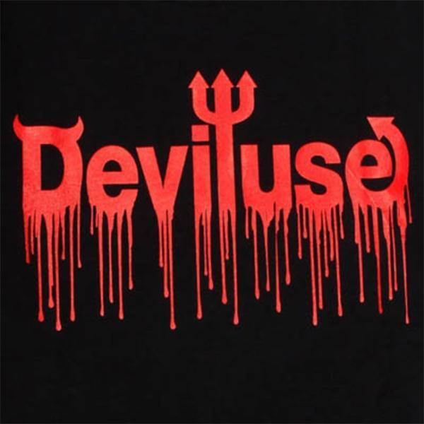 DEVILUSE LOGO Blood SS Tshirts Black デビルユース ロゴ 半袖 Tシャツ ブラック|stormy-japan|02