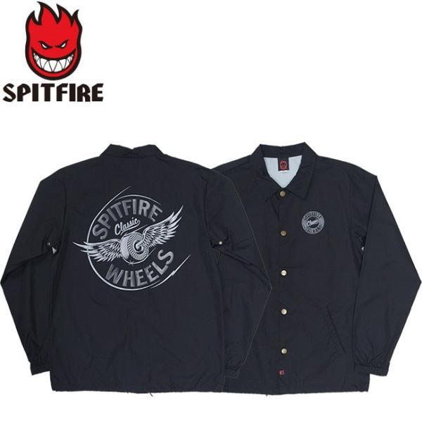 SPITFIRE FLYING CLASSIC COACHES JACKET BLACK スピットファイヤー フライング クラシック コーチジャケット ブラック 18h|stormy-japan