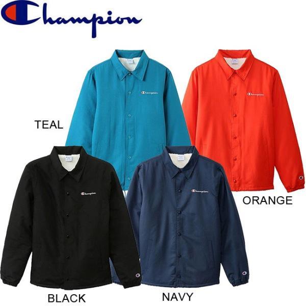 CHAMPION COACH JACKET C3-L610 BLACK NAVY TEAL ORANGE チャンピオン コーチ ジャケット 裏ボア 18f|stormy-japan