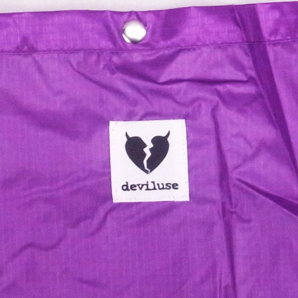 DEVILUSE Heartaches Sacoche Bag W30xH25xD2.5cm Purple デビルユース ナイロン サコシュバッグ ショルダーバッグ パープル 19ss|stormy-japan|02