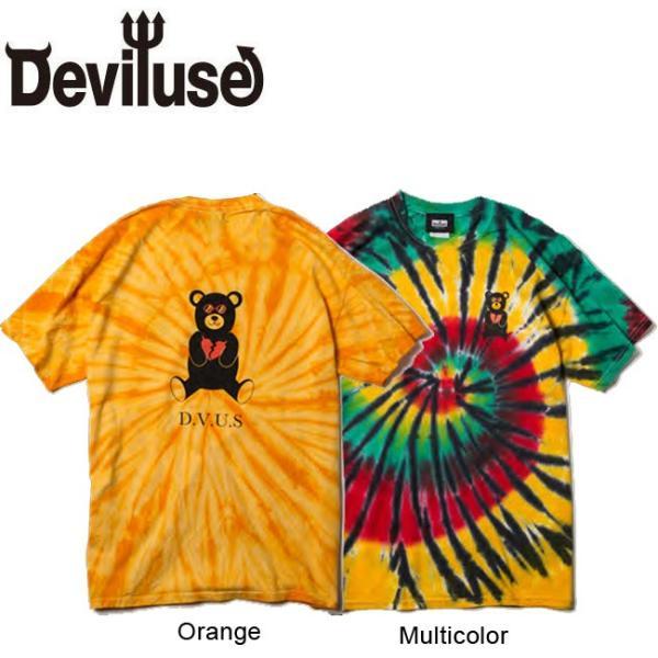 DEVILUSE Bear Jr Tie Dye T-shirts Multicolor Orange デビルユース 半袖 タイダイ Tシャツ マルチカラー オレンジ 19aw stormy-japan