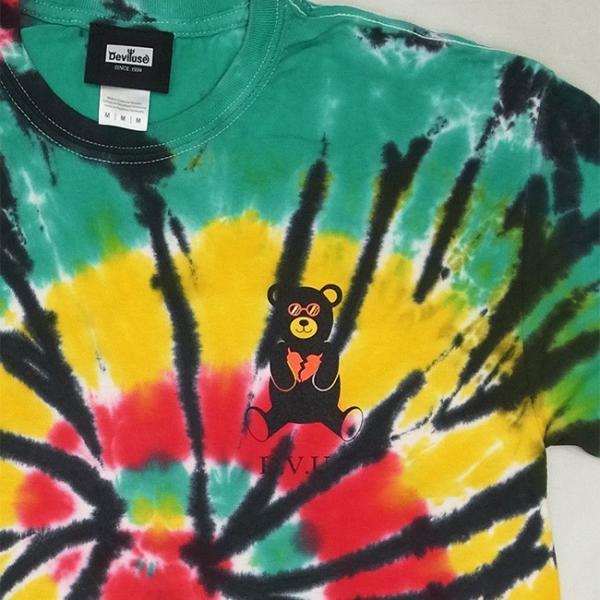 DEVILUSE Bear Jr Tie Dye T-shirts Multicolor Orange デビルユース 半袖 タイダイ Tシャツ マルチカラー オレンジ 19aw stormy-japan 03