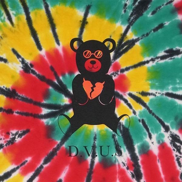DEVILUSE Bear Jr Tie Dye T-shirts Multicolor Orange デビルユース 半袖 タイダイ Tシャツ マルチカラー オレンジ 19aw stormy-japan 05