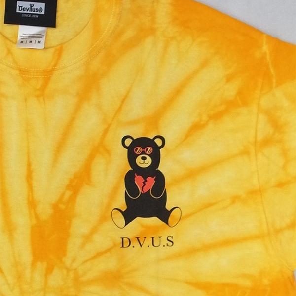 DEVILUSE Bear Jr Tie Dye T-shirts Multicolor Orange デビルユース 半袖 タイダイ Tシャツ マルチカラー オレンジ 19aw stormy-japan 07