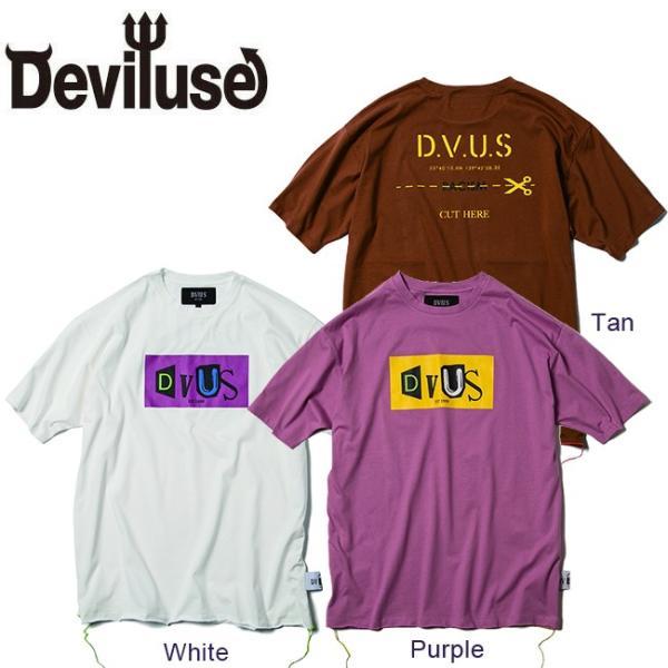 DEVILUSE Claim Big T-shirts White Purple Tan デビルユース 半袖 ビッグ Tシャツ ホワイト パープル タン 19aw|stormy-japan