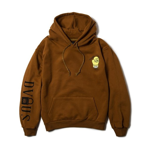 DEVILUSE STAND AGAINST Pullover Hooded Sweat Brown Lavender DullBlue デビルユース パーカー プルオーバー フード スウェット 19aw stormy-japan 02