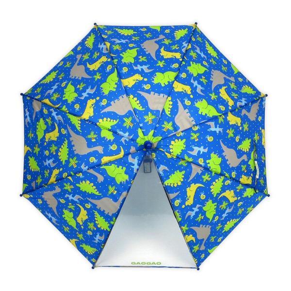 傘 キッズ 透明窓付 恐竜柄 ダイナソー 長傘 雨傘 ワンタッチ ジャンプ かわいい 子供傘|story-web|02
