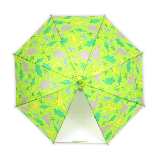 傘 キッズ 透明窓付 恐竜柄 ダイナソー 長傘 雨傘 ワンタッチ ジャンプ かわいい 子供傘|story-web|04