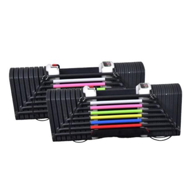 可変式ダンベル  90ポンド 約41Kg 2個 1SET ブロック ダンベル 可変式 40Kg 両腕分 トレーニング スポーツ 筋トレ 在宅 ジム
