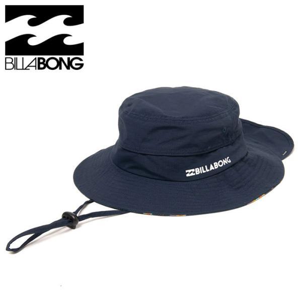 ビラボン サーフハット 水陸両用 メンズ 紫外線カット BILLABONG ロゴ 帽子 ネイビー BB011939