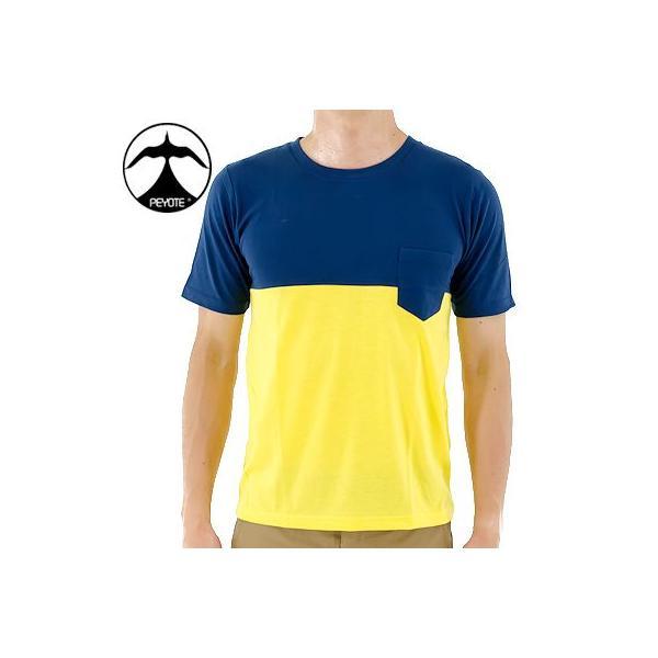 アメカジ Tシャツ 半袖ティーシャツ メンズTシャツ ポケットTシャツ PEYOTE T-Shirts ペヨテ PT13SS-BCTEE ネイビー イエロー アメカジファッション アメリカン|streetbros