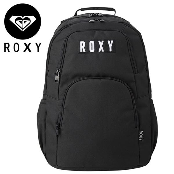 21f1ca640f9 ロキシー バックパック リュック バッグ 25L 保冷ポケット ブラック ROXY RBG191304 GO OUTの画像