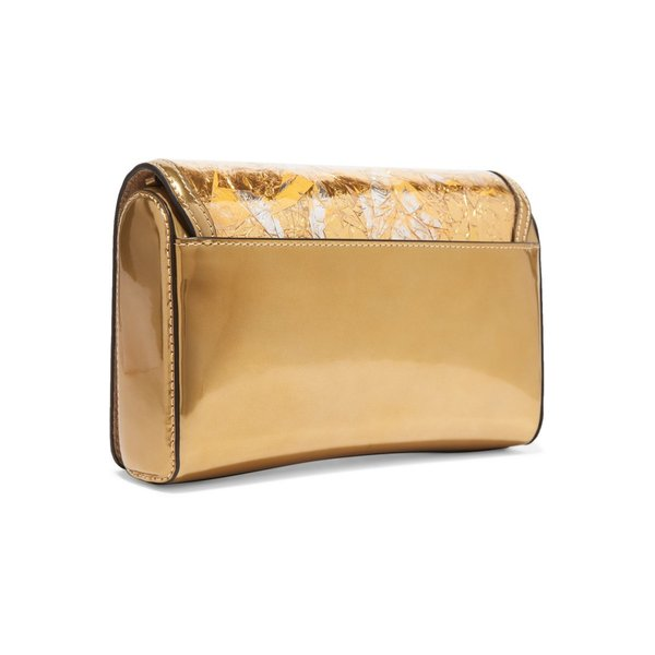 Christian Louboutin/クリスチャン・ルブタン バッグ Rubylou metallic leather and foil shoulder bag