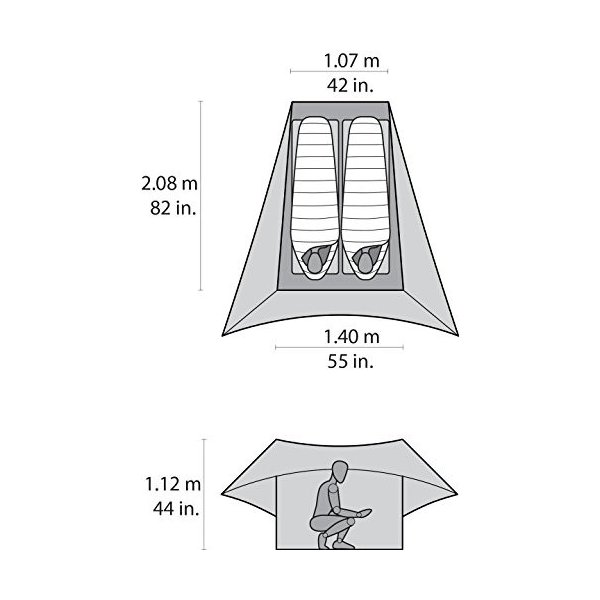 MSR テント Flylite Tent with Canopy Style Rainfly|stroke-shop|06