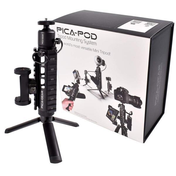 ピカギア(Pica-Gear) PICA-POD マウントベース ミニ三脚 ミルスペック対応 アルミ6061製 PG-001 スターターパック 三脚 stroke-shop