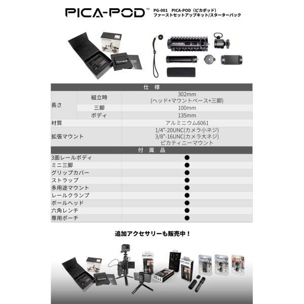 ピカギア(Pica-Gear) PICA-POD マウントベース ミニ三脚 ミルスペック対応 アルミ6061製 PG-001 スターターパック 三脚 stroke-shop 06