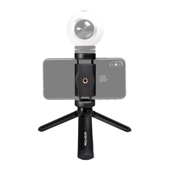 ピカギア(Pica-Gear) SNAP-GRIP マイク・照明搭載可 2Way ミニ三脚 Gopro iPhone対応 スナップグリップPG-040 stroke-shop
