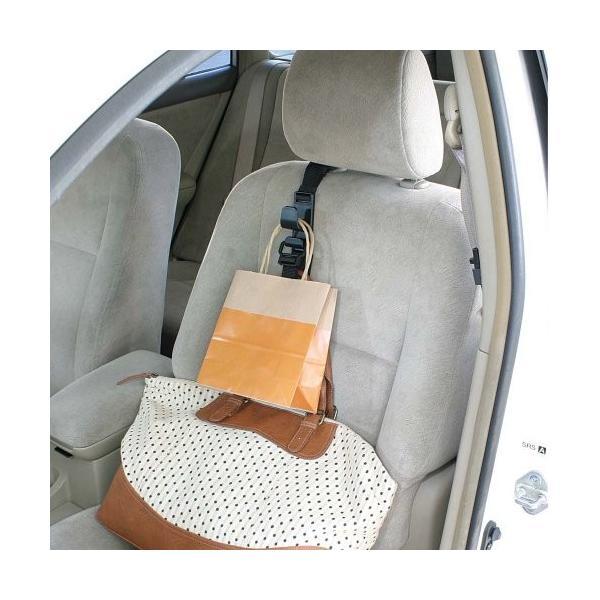 ナポレックス 車用収納フック シートフック ブラック 耐荷重5kg 買い物袋の荷崩れ防止 汎用 Fizz-963|studieshop|02