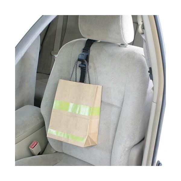 ナポレックス 車用収納フック シートフック ブラック 耐荷重5kg 買い物袋の荷崩れ防止 汎用 Fizz-963|studieshop|03