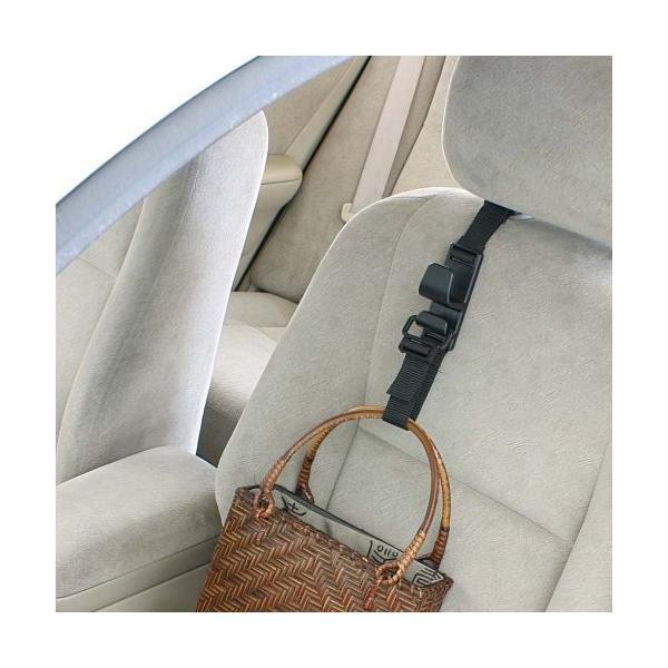 ナポレックス 車用収納フック シートフック ブラック 耐荷重5kg 買い物袋の荷崩れ防止 汎用 Fizz-963|studieshop|04