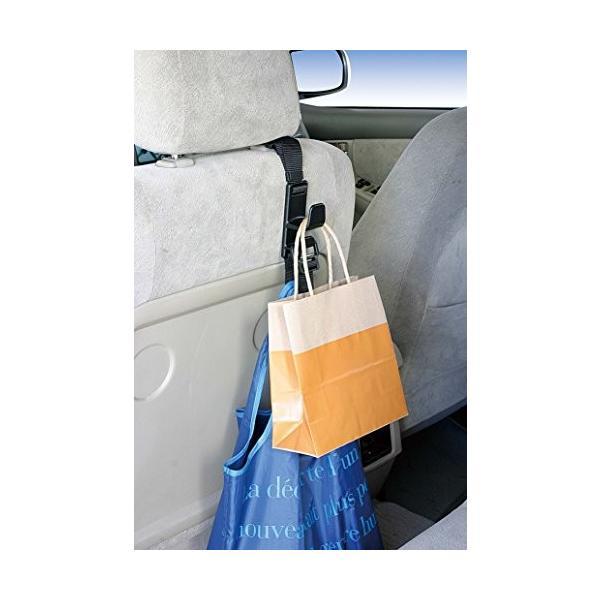 ナポレックス 車用収納フック シートフック ブラック 耐荷重5kg 買い物袋の荷崩れ防止 汎用 Fizz-963|studieshop|05