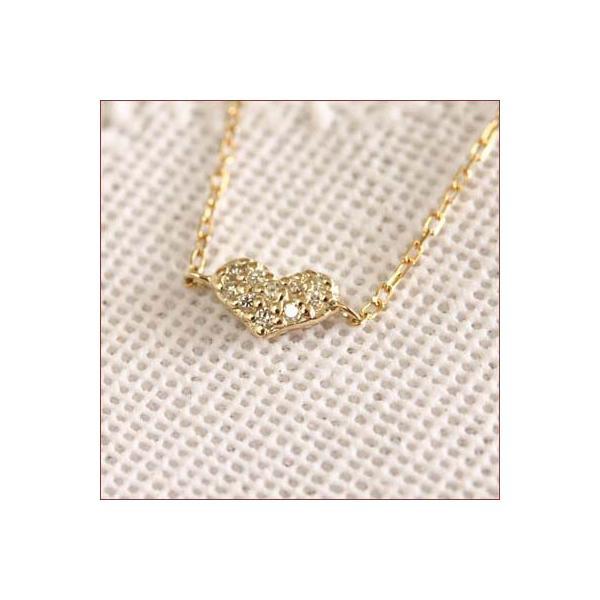 K10 ダイヤモンド アンクレット  ハート パヴェ ダイヤモンド プレゼント